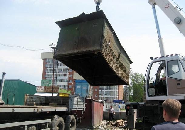 В Иркутске убирают гаражи